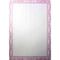 Colourful Days A4 Pink Printed Paper Damask Design With Border 10pk