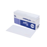 Cumberland Envelopes DL 110x220mm Strip Seal Secretive 80gsm 100pk