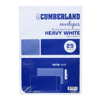 Cumberland Envelopes B4 Strip Seal White 100g 25pk
