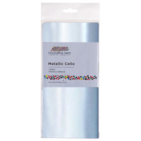 Colourful Cello Wrap 750 x 1000mm Metallic Silver