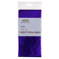 Colourful Cello Wrap 750 x 1000mm Purple