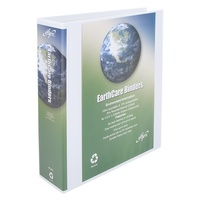 Earthcare Insert Binder A4 4D Ring 50mm White