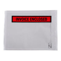Cumberland Invoice Enclosed Self Adhesive Carton Envelopes 115x150mm Bx1000 Clear
