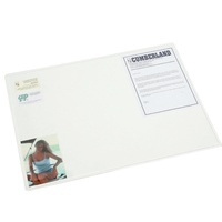 Cumberland Desk Mat Transparent 450X590mm