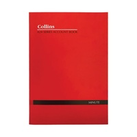 Collins Account Book A24 Minute Book 24 Leaf Red