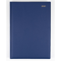 Collins Belmont Diary A4 Day to Page Navy 2021 Edition
