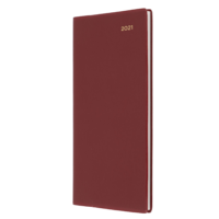 Collins Belmont Diary B6/7 Week to View Landscape Burgundy 2021 Edition