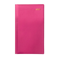Collins Belmont Diary Slimline Week to View Portrait Pink 2021 Edition