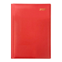 Collins Belmont Diary A5 Week to View Red 2021 Edition