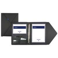 Debden Conference Ring Binder with Flap Close Charcoal Grey