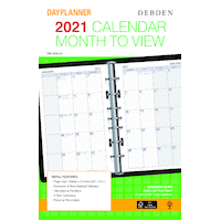 Debden DayPlanner Refill Desk Edition Monthly Dated 2021 Edition