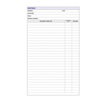 DayPlanner Executive Refill EX5009 Meetings