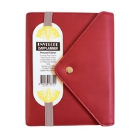 Debden DayPlanner Organiser Personal Edition PU Button Closure Red Red