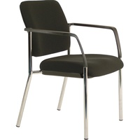 Buro Lindis 4 Leg Chair with Arms Black Fabric