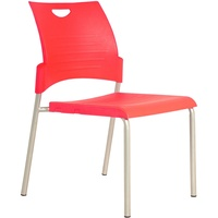 Buro Pronto 4 Leg Chair - Red