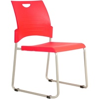 Buro Pronto Sled Chair - Red