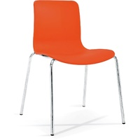 Acti 4C 4 Leg Chair - Chrome Frame With Orange Plastic Shell