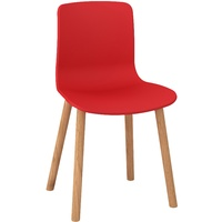 Dal Acti 4T Wood Leg Chair - Red