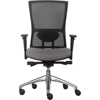Koda 24/7 Mesh Chair High Back With Adjustable Arms Black Fabric