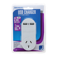 Jackson 2 USB Charger with Power Socket