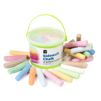 Ec Chalk Coloured - Sidewalk 100X24mm Bucket 24