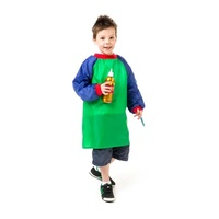 EC Art Smock Junior Years 5 - 8 Green / Blue