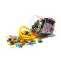 Learning Can Be Fun Transparent 20mm Counters Jar1000