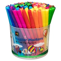 EC Coloured Master Markers MM96 Fine Assorted Tub96