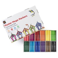 EC Coloured Master Markers Coloured Jumbo Broad Assorted Classroom Box