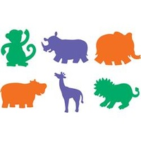 EC Stencil Jungle Animals 203x203mm 6s