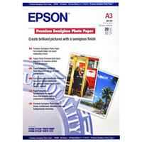 Epson S041334 Premium Semi Gloss Photo Paper A3 20 Sheets