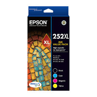 Epson 252XL Capacity Four Colour Value Pack (Black, Cyan, Magenta & Yellow)