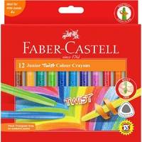 Faber-Castell Junior Triangular Twist Crayons 12pk