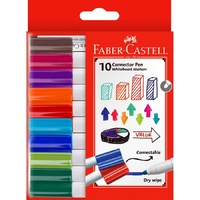 Faber Castell Connector Pen Whiteboard Marker Assorted Wallet of 10