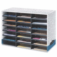 Fellowes Literature Sorter 21 Compartment Grey