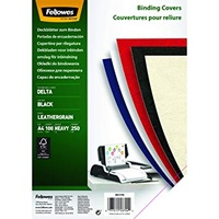 Fellowes Binding Cover Leatherboard 300gsm A4 Black