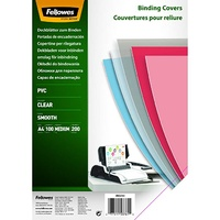 Fellowes Binding Cover Clear PVC 200 Microns A4