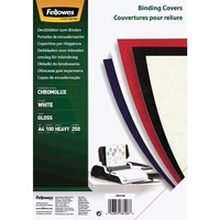Fellowes Binding Covers Gloss A4 White