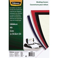 Fellowes Binding Covers Gloss A4 Red