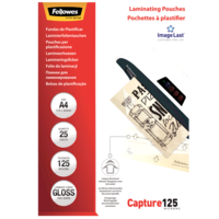 Fellowes Laminating Pouches A4 125 Micron Gloss