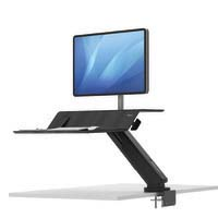 Fellowes Lotus RT Sit Stand Workstation Single Monitor Black