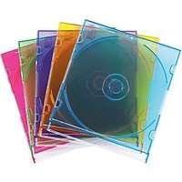 Fellowes CD Jewel Cases Colours 10Pk