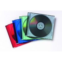 Fellowes Slimline CD Jewel Cases 25 Pack Assorted Colours