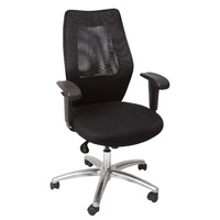 AM200 Executive Medium Back Mesh Chair Black