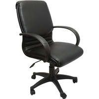Rapidline CL-610 Cleo Executive Mid Back Chair With Arms Black PU