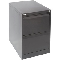 GO Heavy Duty 2 Drawer Filing Cabinet 460W X 620D X 705H Black Ripple