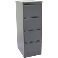 Go Steel 4 Drawer Filing Cabinet (Assembled)  460W X 620D X 1321H - Graphite Ripple