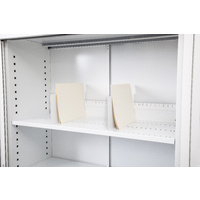 Go Slotted Shelf To Suit 1200mm Tambour Door Unit White