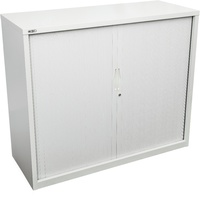 Go Tambour Door Cupboard - Silver Grey H1016Xw1200Xd470mm