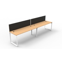 Rapid Infinity Single Sided Workstations with Screens & Loop End Legs